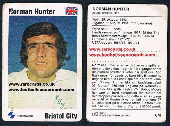 1979 Norman Hunter Leeds U Bristol City